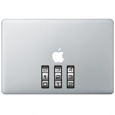 Slot Nummers Macbook Sticker