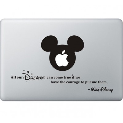 All Your Dreams - Walt Disney MacBook Sticker Zwarte Stickers