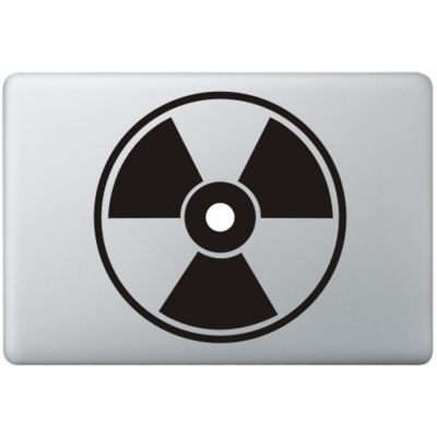 Kerngevaar Macbook Sticker Zwarte Stickers