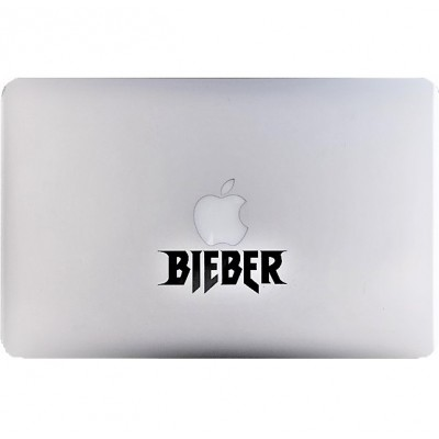 Bieber Macbook Sticker Zwarte Stickers