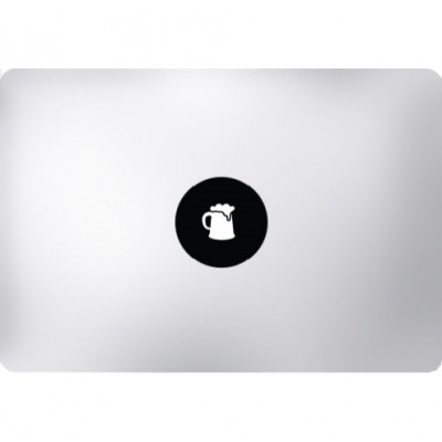 Bierpul MacBook Sticker Zwarte Stickers