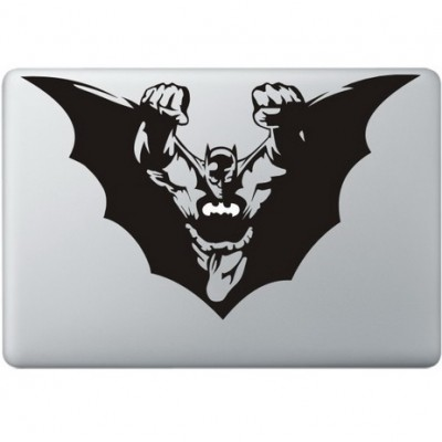 Batman Flying Macbook Sticker Zwarte Stickers