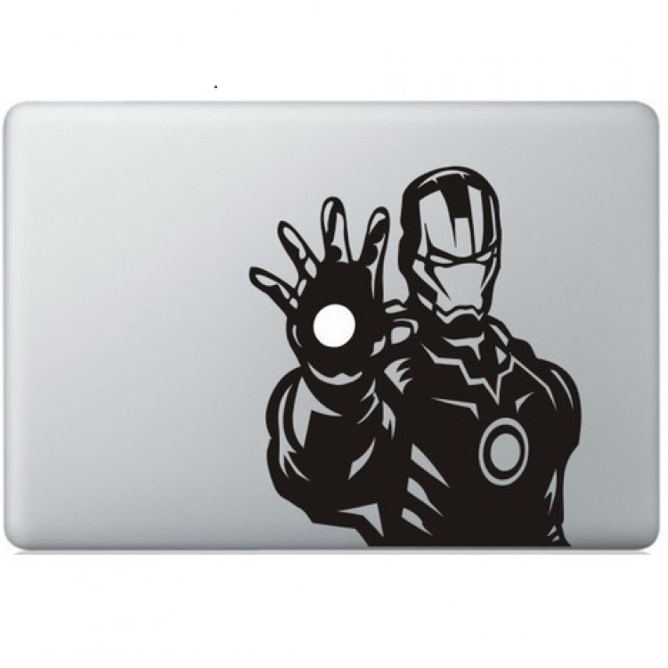 Iron Man (6) Macbook Sticker Zwarte Stickers