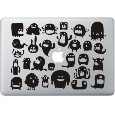 Doodle Monstertjes Macbook sticker