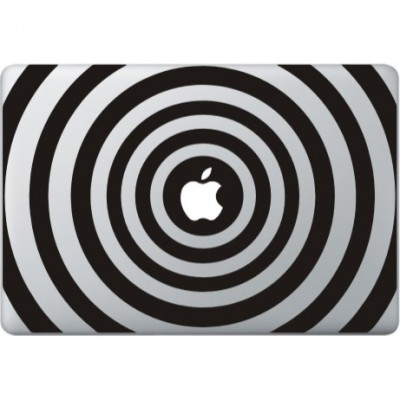 Cirkel Print Macbook Decal Zwarte Stickers