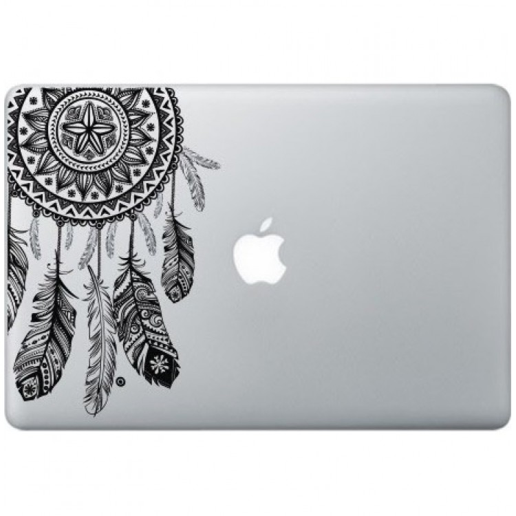 Dromenvanger Macbook Sticker Zwarte Stickers