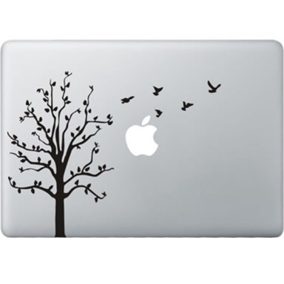 Boom met Vogels MacBook Sticker
