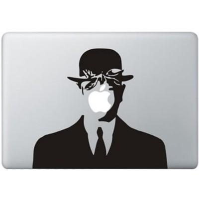Magritte MacBook Sticker Zwarte Stickers
