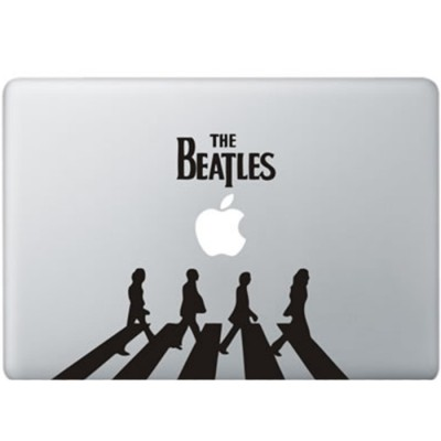 The Beatles MacBook Sticker Zwarte Stickers