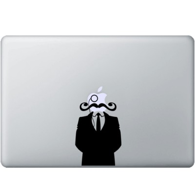Gentleman met Snor MacBook Sticker