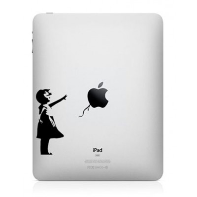 Bansky Girl iPad Sticker