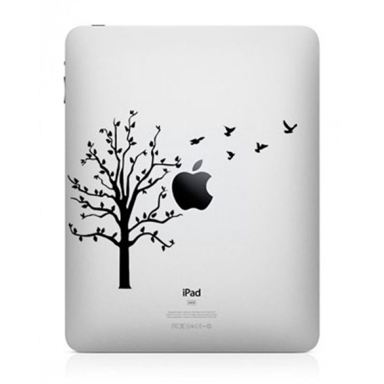 Boom met Vogels iPad Sticker iPad Stickers