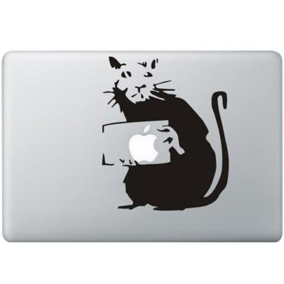 Banksy Rat MacBook Sticker Zwarte Stickers
