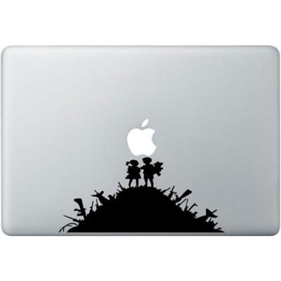 Banksy Kids MacBook Sticker Zwarte Stickers