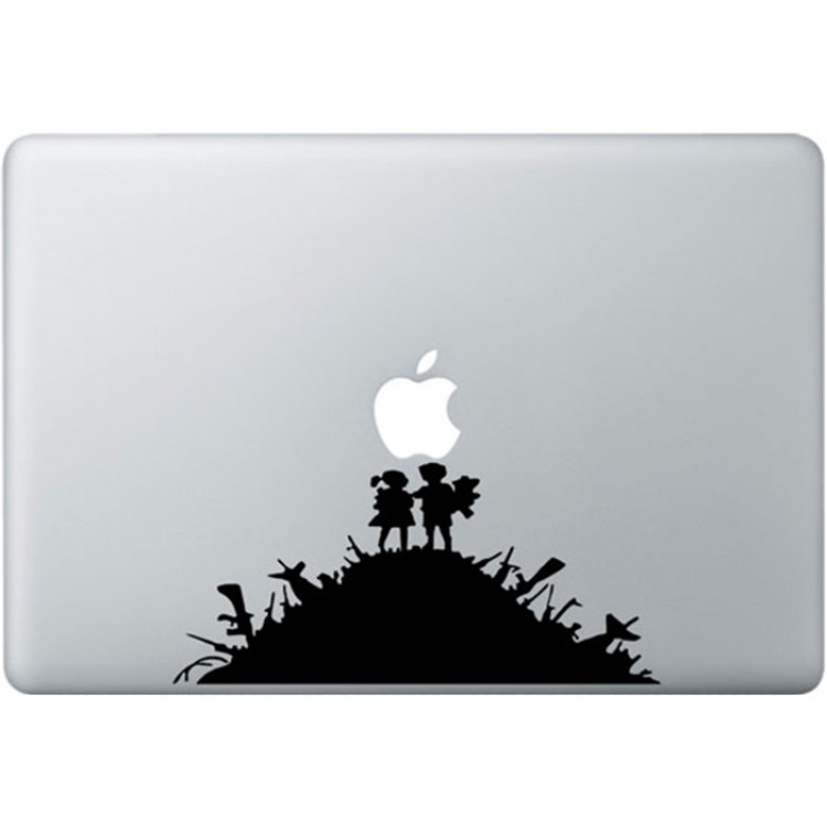 Banksy Kids MacBook Sticker Zwarte Stickers