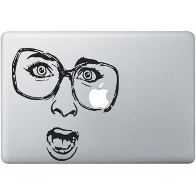 Shocked MacBook Sticker Zwarte Stickers