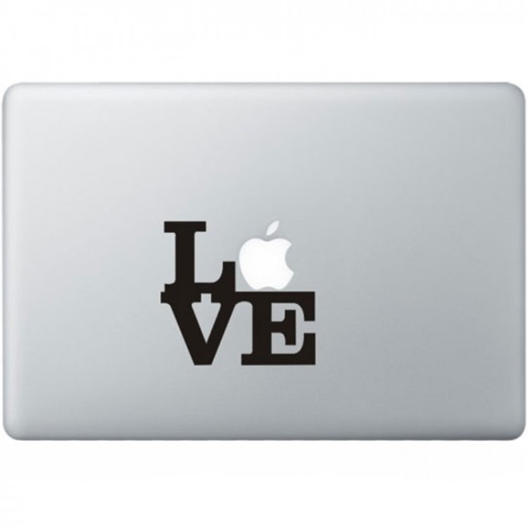 Love MacBook Sticker Zwarte Stickers