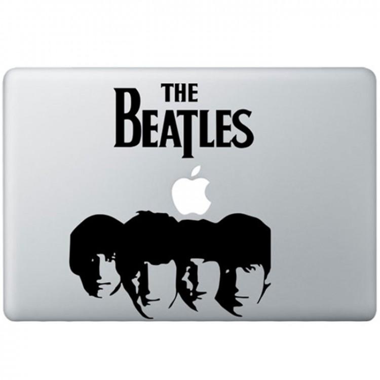 The Beatles (2) MacBook Sticker Zwarte Stickers