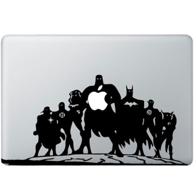 Justice League MacBook Sticker Zwarte Stickers