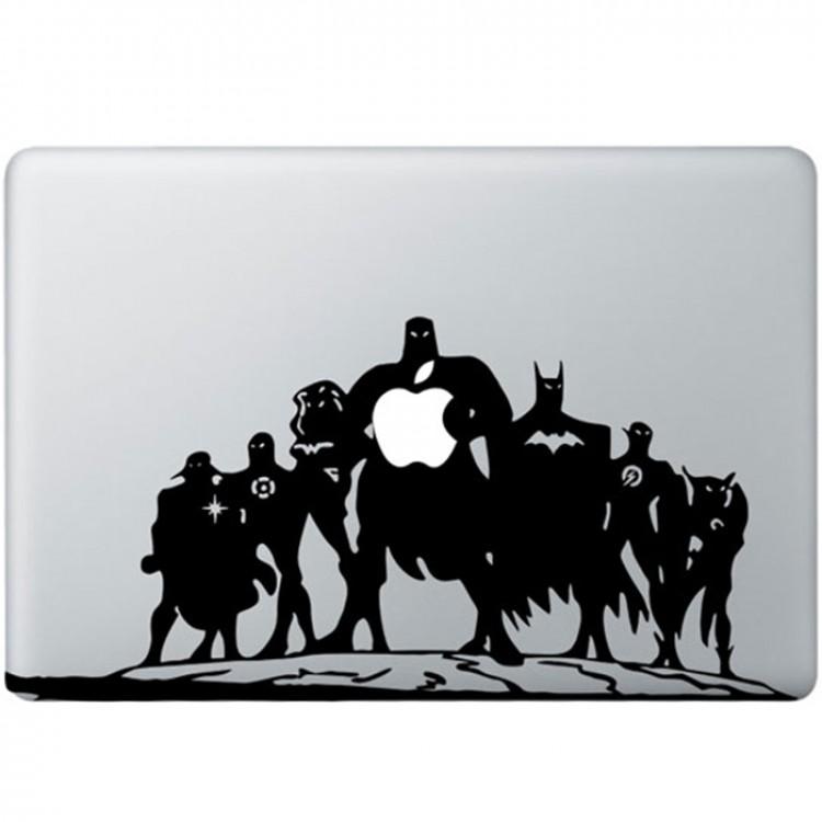 Justice League MacBook Sticker Zwarte Stickers