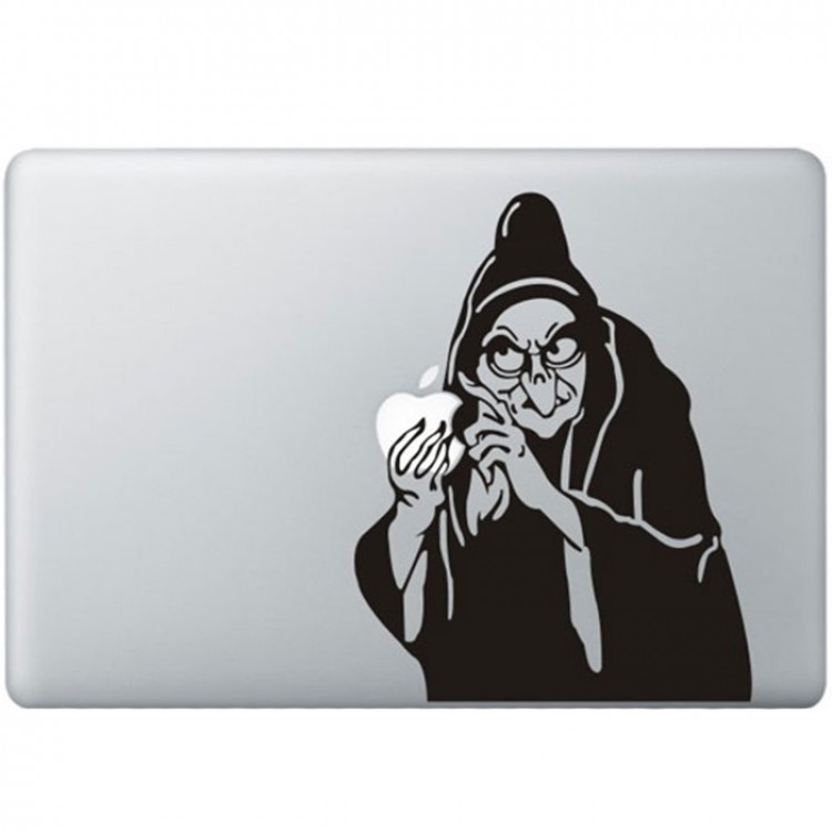 Sneeuwwitje Heks MacBook Sticker Zwarte Stickers