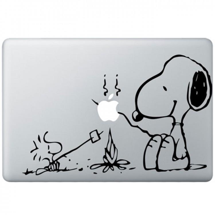 Snoopy MacBook Sticker Zwarte Stickers