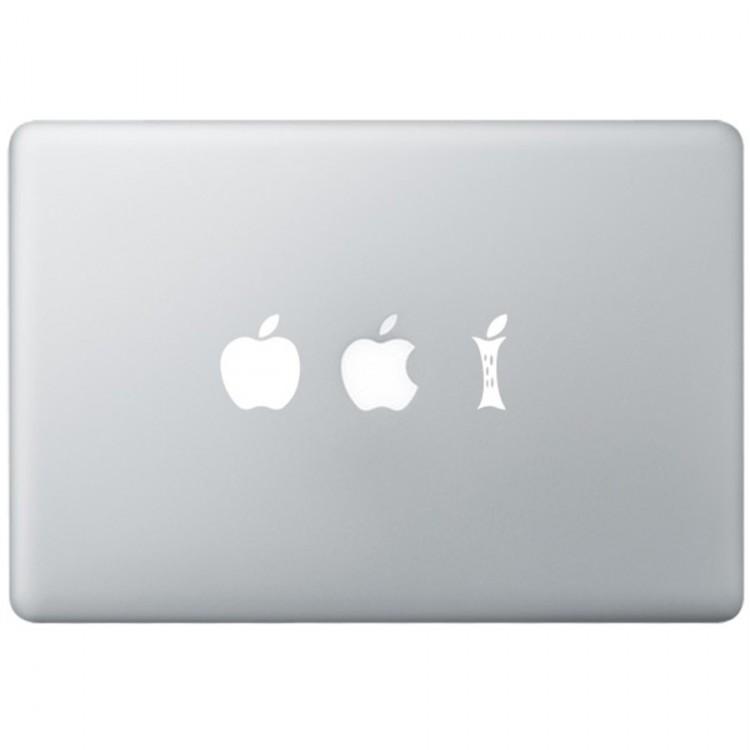 Eating Apple MacBook Sticker Zwarte Stickers