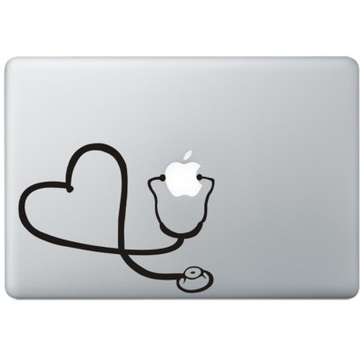 Dr. Apple MacBook Sticker Zwarte Stickers