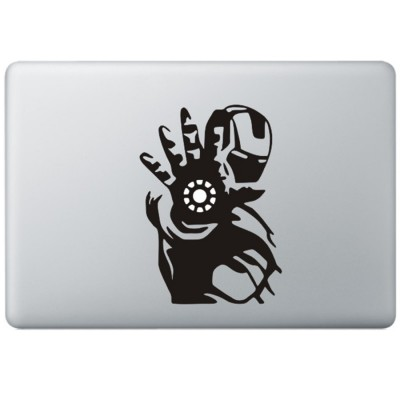 Iron Man (3) MacBook Sticker Zwarte Stickers