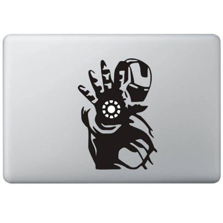 Iron Man (3) MacBook Sticker Zwarte Stickers