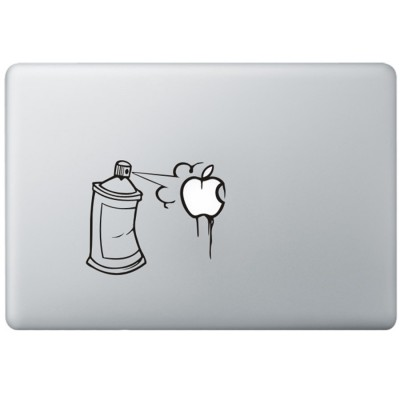 Graffiti MacBook Sticker Zwarte Stickers
