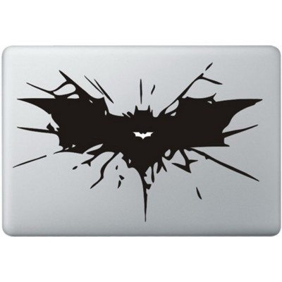 Batman Logo MacBook Sticker Zwarte Stickers