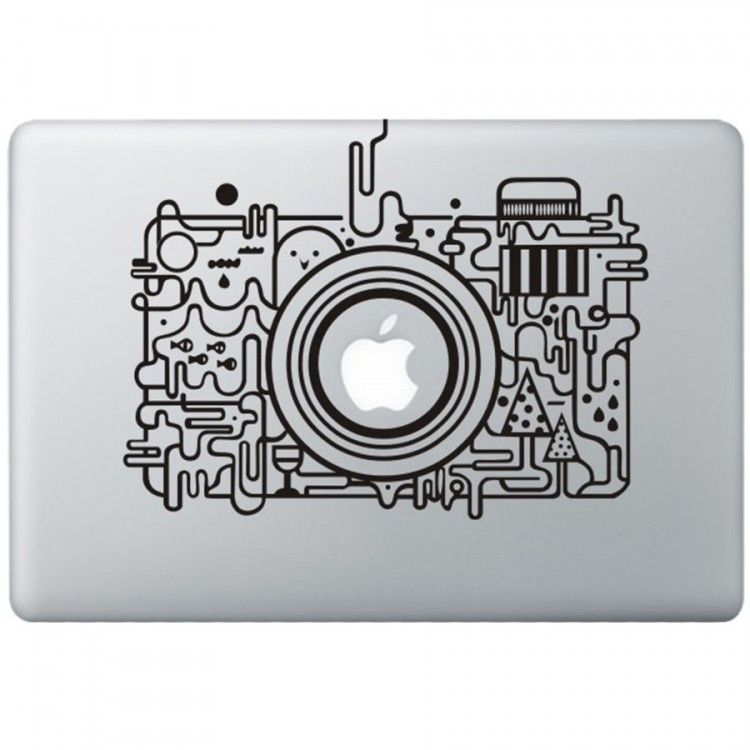 Apple Camera MacBook Sticker Zwarte Stickers