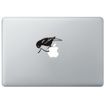 Early Bird MacBook Sticker Zwarte Stickers