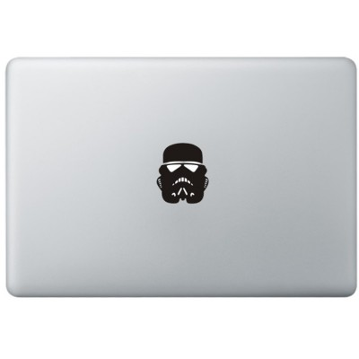 Stormtrooper Mask MacBook Sticker Zwarte Stickers