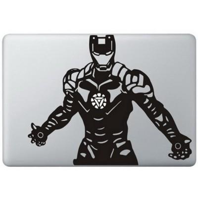 Iron Man (4) MacBook Sticker Zwarte Stickers