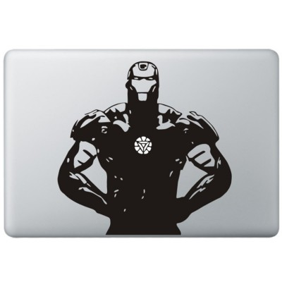 Iron Man (5) MacBook Sticker Zwarte Stickers