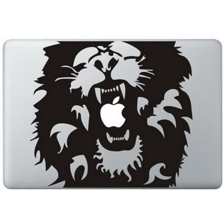 Leeuw (Roar) MacBook Sticker Zwarte Stickers