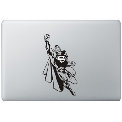 Superman (2) MacBook Sticker Zwarte Stickers