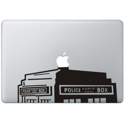 Dr. Who The Tardis (2) MacBook Sticker