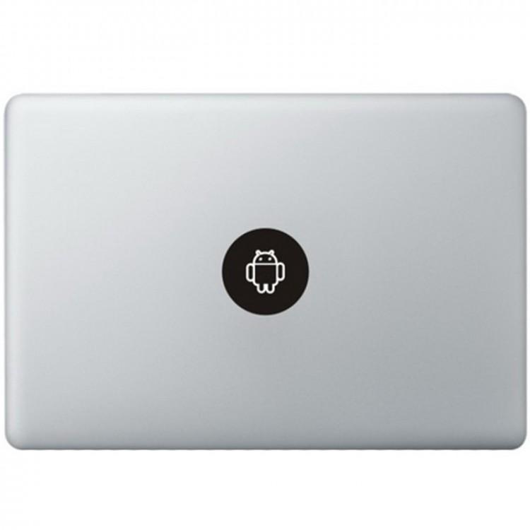 Android Logo MacBook Sticker Zwarte Stickers