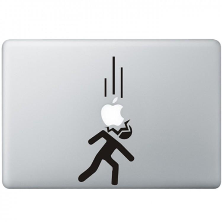 Vallende Appels MacBook Sticker Zwarte Stickers