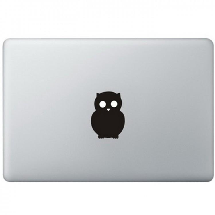 Uil Logo MacBook Sticker Zwarte Stickers