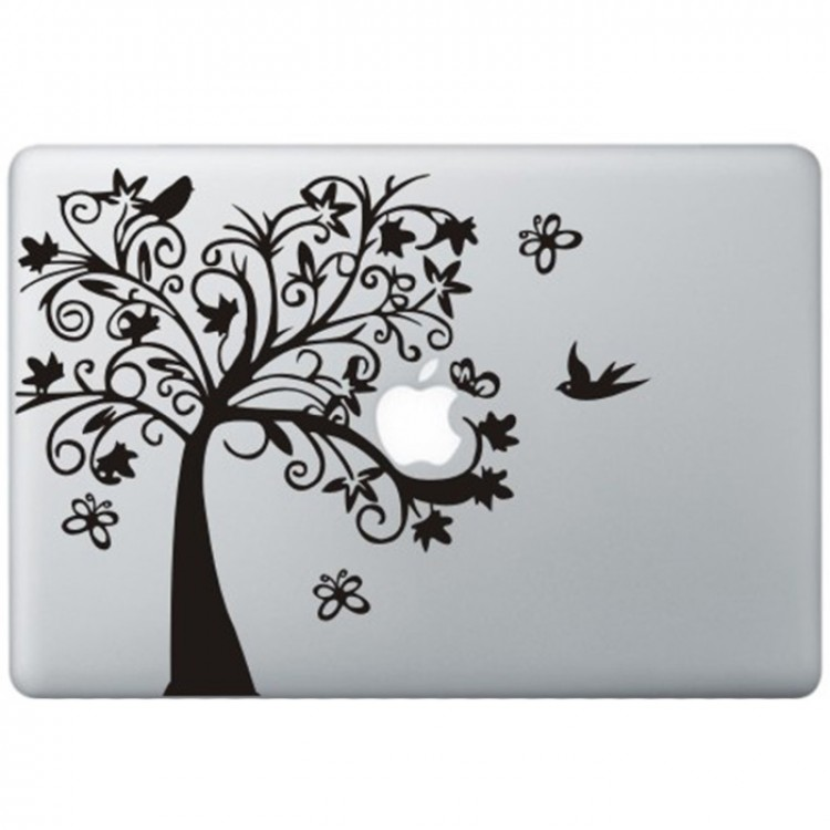 Fancy Boom MacBook Sticker Zwarte Stickers