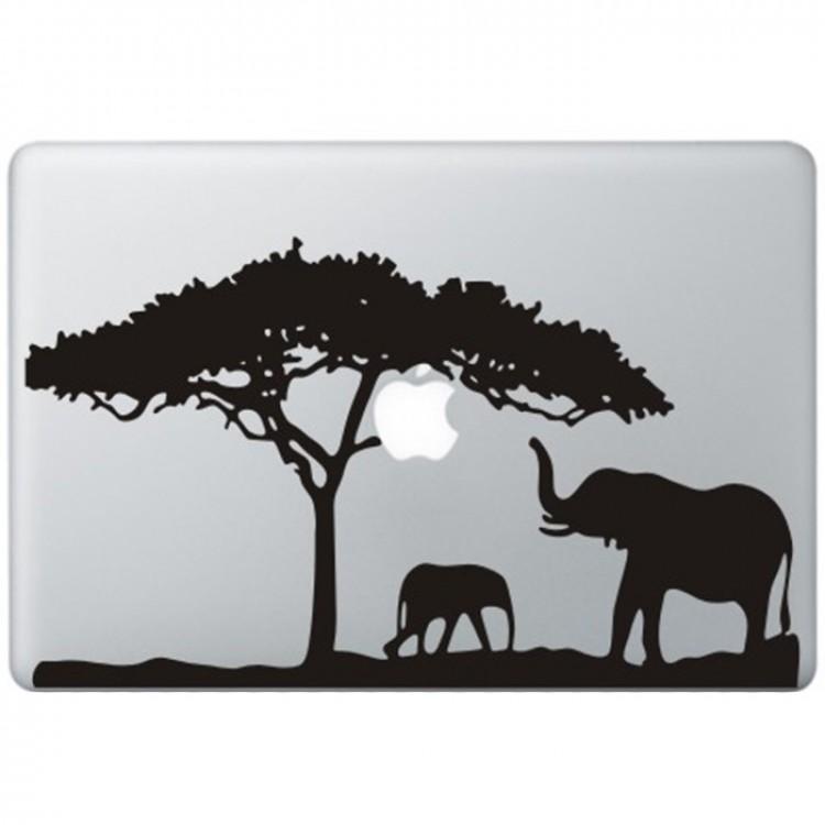 Afrika MacBook Sticker Zwarte Stickers