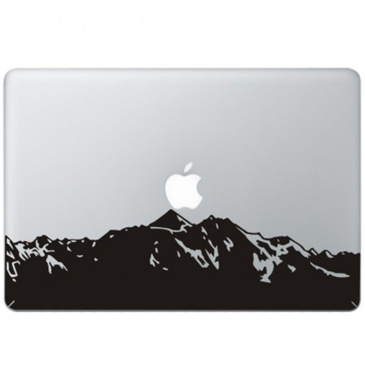 Bergen MacBook Sticker Zwarte Stickers