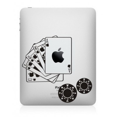 Poker iPad Sticker iPad Stickers