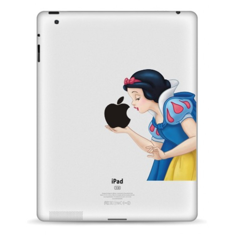 Sneeuwwitje Kleur (2) iPad Sticker iPad Stickers