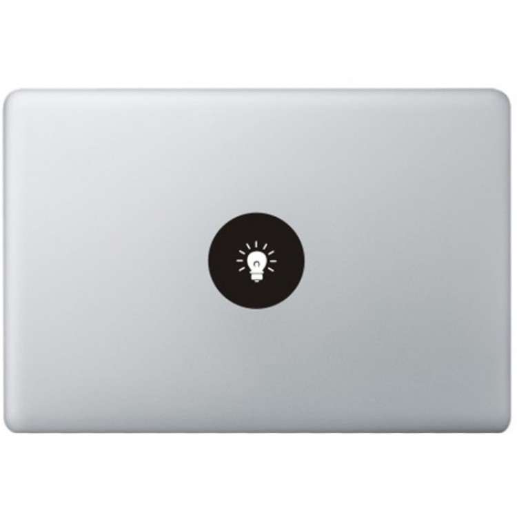 Lamp Logo MacBook Sticker Zwarte Stickers