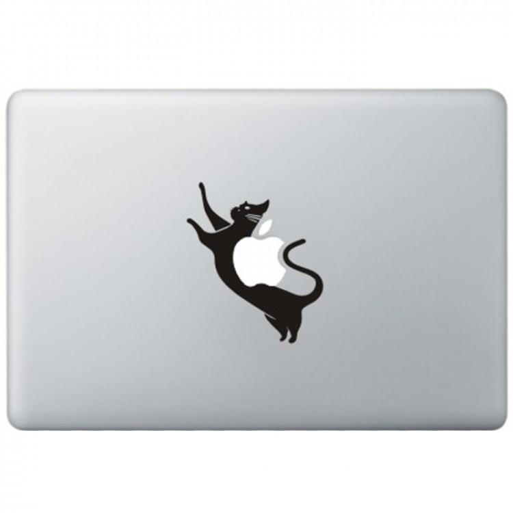 Space Kat MacBook Sticker Zwarte Stickers